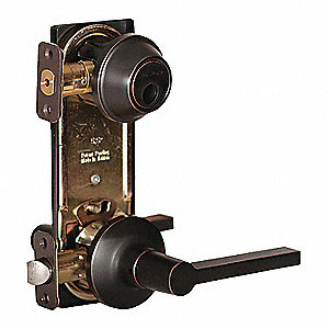 Lever Lockset, Tempo Rose, Mechanical, Lockset Is Keyless (Not Keyed) Key Type, Cylindrical