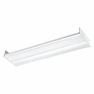 Recessed Troffer, LED Replacement For 2 Lamp LFL, 4100K, Lumens 4500, Fixture Rated Life 60,000 hr.