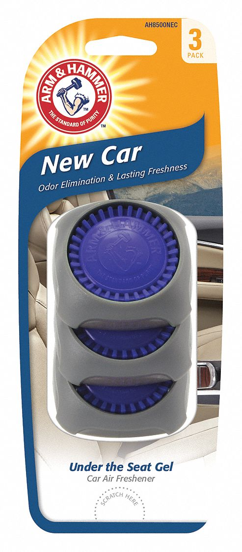 New Car Scented Air Freshener Disc, Blue, 3 PK