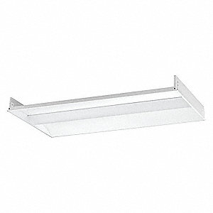 Recessed Troffer, LED Replacement For 4 Lamp LFL, 5000K, Lumens 6200, Fixture Rated Life 60,000 hr.