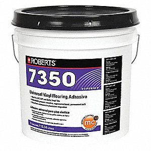 Off White 4 gal. Flooring Adhesive, 8 to 10 hr. Curing Time, 1 EA