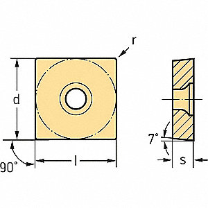 Square Turning Insert, SCGT, 432, MM4-WSM01