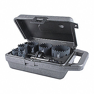 "8-Piece Hole Saw Kit for Metal, Range of Saw Sizes: 7/8"" to 2-1/2"""