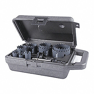 "11-Piece Hole Saw Kit for Metal, Range of Saw Sizes: 3/4"" to 2-1/2"""