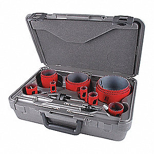 "16-Piece Hole Saw Kit for Metal, Range of Saw Sizes: 3/4"" to 4-1/2"""