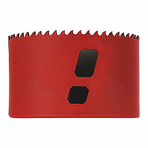 "3-1/8""-Dia. Hole Saw for Metal, 1-15/16"" Max. Cutting Depth, 5/6 Teeth per Inch"