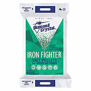 40 lb. Water Softener Salt, Iron Fighter Series, Pellets, 99.3% Purity