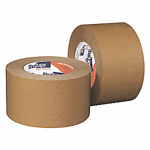Paper Masking Tape, Rubber Tape Adhesive, 6.60 mil Thick, 48mm X 55m, Tan, 24 PK