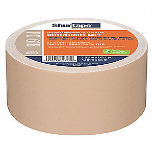 Industrial Duct Tape, 72mm X 55m, 10.00 mil Thick, Brown Plastic, 1 EA