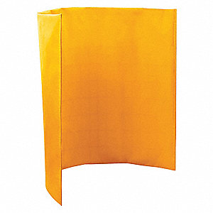 Welding Screen,5 ft. H x 6 ft. W,Yellow
