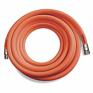 "50 ft.L EPDM Washdown Hose, 1-1/8"" Pipe Size, Safety Orange"