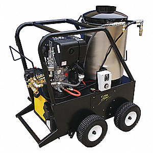 Heavy Duty (2800 to 3299 psi) Diesel Cart Pressure Washer, Cold, Hot Water Type, 4.0 gpm, 3000 psi