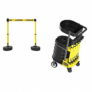 "PLUS Cart Pkg w/Tray, ""Caution"" Banner"
