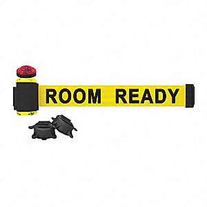 Belt Barrier w/Light Kit, Yellow, Room Ready