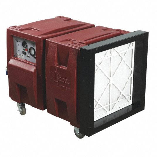 HEPA Negative Air Machine,  2 Speed Thermally Protected Motor,  HP 2 hp,  Voltage 115 V,  15 A Amps