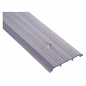 "4 ft. x 5"" x 1/2"" Fluted Top Saddle Threshold, Silver"