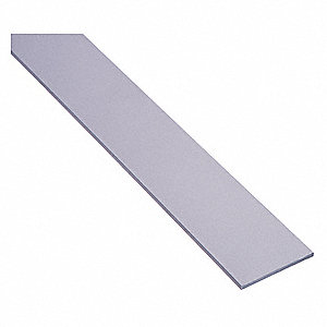 "Aluminum, Door Weather Strip, Silver, 8 ft. Overall Length, 2"" Overall Width, 1/8"" Overall Height"