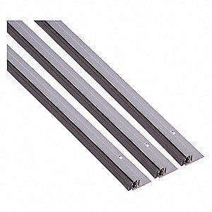 "Aluminum, Door Weather Strip, Silver, 7 ft. Overall Length, 7/8"" Overall Width, 1/2"" Overall Height"
