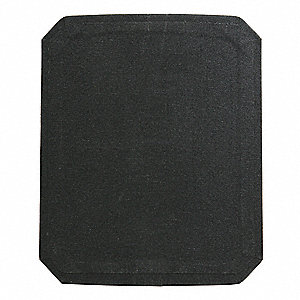 "Body Armor Plate,10"" x 12"" Full Cut"