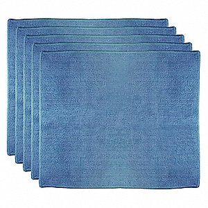 "Medium Duty Microfiber Cloth, Blue, 12"" x 14"", 5 PK"