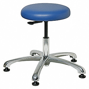 Pneumatic Stool,Blue,300 lb.,Vinyl
