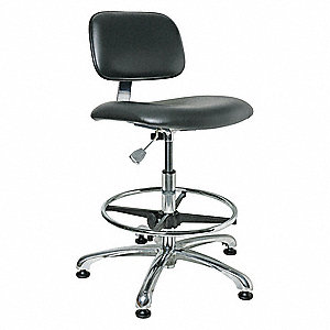 "Vinyl Cleanroom Pneumatic Task Chair with 22"" to 32"" Seat Height Range and 300 lb. Weight Capacity,"