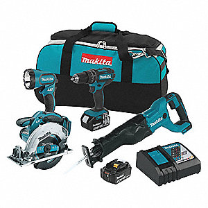 18V LXT Cordless Combination Kit, 18.0 Voltage, Number of Tools 4
