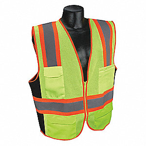High Visibility Vest,Yellow/Green,2XL