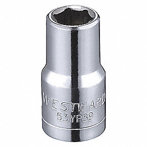 "6mm Alloy Steel Socket with 1/4"" Drive Size and Full Polished Finish"