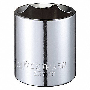 "1-1/4"" Alloy Steel Socket with 1/2"" Drive Size and Full Polished Finish"