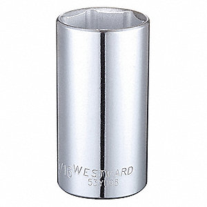 "1-5/16"" Alloy Steel Socket with 1/2"" Drive Size and Full Polished Finish"
