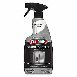 Metal Cleaner And Polish 22 Oz Spray Bottle Unscented Liquid Ready To