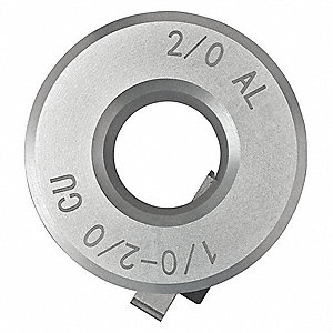 "1/0-2/0 CU, 2/0 AL Stripping Bushing with 60 Jacket MIL Thickness and 0.523"" Max. Bushing I.D."