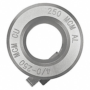 "4/0-250MCM CU, 250MCM AL Stripping Bushing with 70 Jacket MIL Thickness and 0.681"" Max. Bushing I.D."