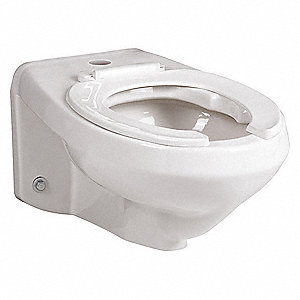 Toilet Bowl, Wall Mounting Style, Elongated, 1.2 to 1.6 Gallons per Flush