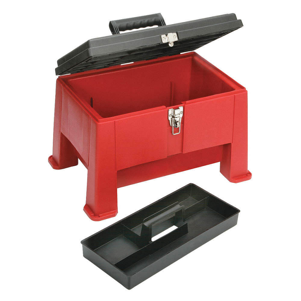Prime Plastic Step Stool Tool Box 12 1 2 Overall Height 20 Overall Width 14 Overall Depth Red Uwap Interior Chair Design Uwaporg