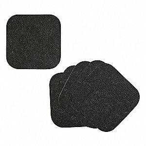 "Drip Pad,Black,Thickness 1/8"",PK6"