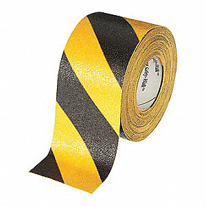 Antislip Tape,Mineral Coated,Blck/Yellow