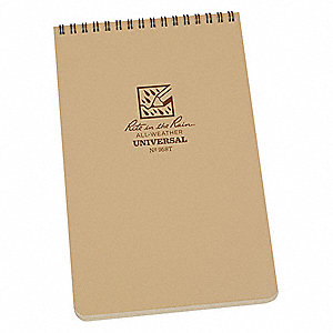 All Weather Notebook,Tan Cover