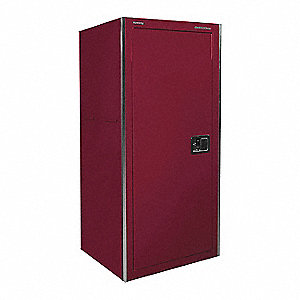 "Burgundy Heavy Duty Side Locker, 62"" H X 26-3/8"" W X 24"" X D, Number of Drawers: 3"