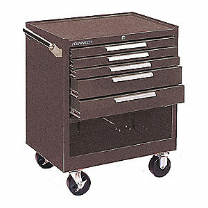 "Brown Heavy Duty Tool Cabinet, 35"" H X 29"" W X 20"" D, Number of Drawers: 5"