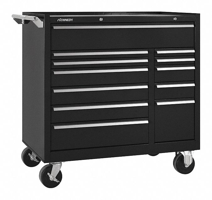 KENNEDY Black Heavy Duty Tool Cabinet 39  H X 41-3/8  W X 20  D Number of Drawers 12 - 54DN34|10495BK - Grainger  sc 1 st  Grainger & KENNEDY Black Heavy Duty Tool Cabinet 39