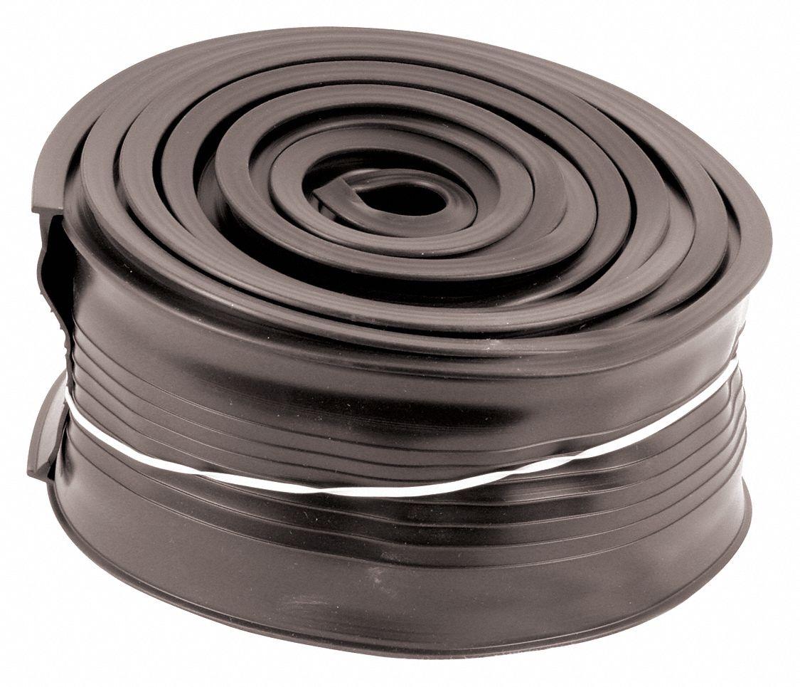 10-Feet Long Prime-Line Products GD 12273 Garage Door Bottom Seal Metal Door Gray Vinyl