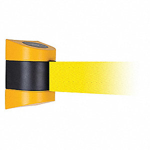 Barrier Post with Belt, Yellow, None