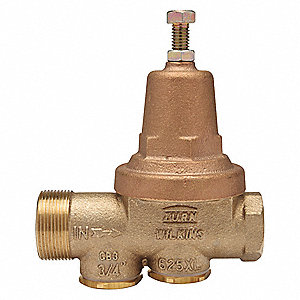 "Water Pressure Reducing Valve, Standard Valve Type, Lead Free Bronze, 3/4"" Pipe Size"