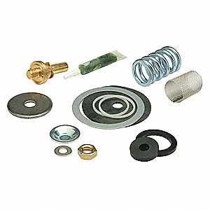 Valve Rebuild Kit, Rubber, Steel, Brass, Pressure Reducing Valves For Use  With