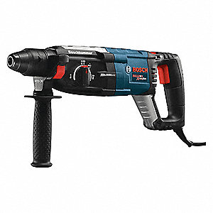 SDS Plus Rotary Hammer Kit, 8.5 Amps, 0 to 5100 Blows per Minute, 120 Voltage