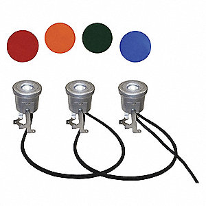 Lighting System, 6 Lamps, 19W, Cord 300ft L