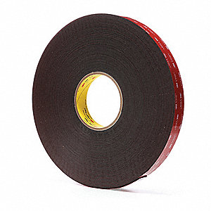 Acrylic Foam Double Sided VHB Foam Tape, Acrylic Adhesive, 45.00 mil Thick, 25mm X 33m, Black