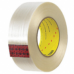 Industrial Seaming Tape, 72mm X 50m, 3.00 mil Thick, Red Cloth, 1 EA